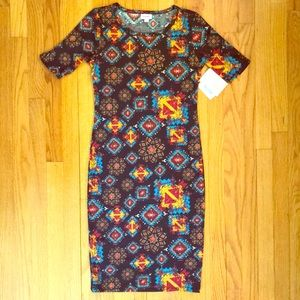 NWT LuLaRoe Julia Pattern Print Dress